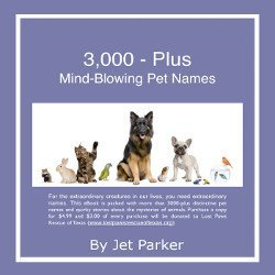 3,000 Plus Mind-Blowing Pet Names by Jet Parker