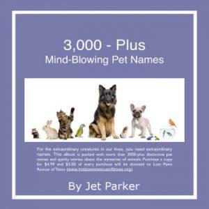 3,000 Plus Mind-Blowing Pet Names by Jet Parker