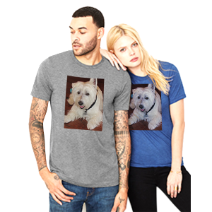 Creature Concierge - Unisex TriBlend Short Sleeve Tshirt Personalized with Your Pet's Photo